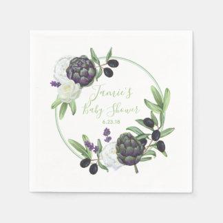 De bloemen Rustieke en Romantische Gardenia van Papieren Servet