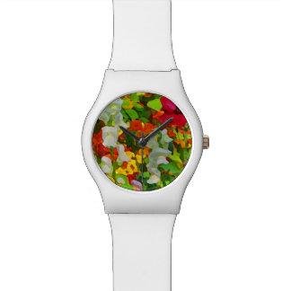 De bloemen Samenvatting van de Kleuren van de Tuin Horloge