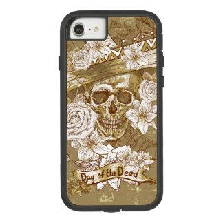 De bloemen Schedel van de Suiker Case-Mate Tough Extreme iPhone 8/7 Hoesje
