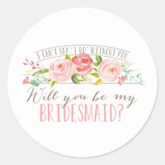 De bloemen Stickers van het Bruidsmeisje van |