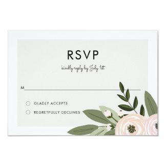 De bloemen Twijgen RSVP van het Huwelijk Kaart