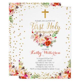 De bloemen Uitnodiging van de Heilige Communie van
