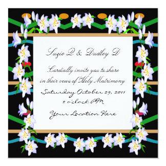 De bloemen Uitnodiging van het Feest