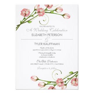 De bloemen Uitnodiging van het Huwelijk van de
