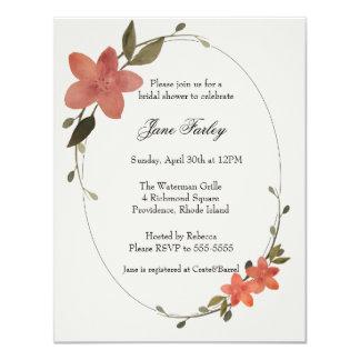 De bloemen Uitnodiging van het Lijst