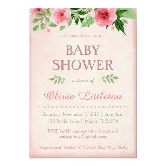 De bloemen Uitnodigingen van het Baby shower -