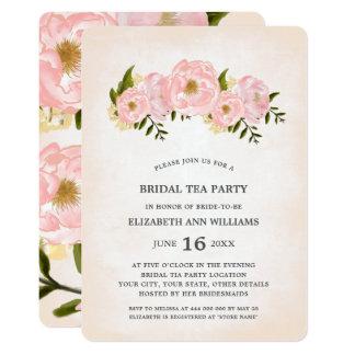 De bloemen Uitnodigingen van het Theekransje van