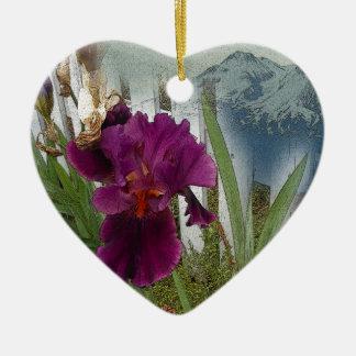 De Bloemen van de berg Keramisch Hart Ornament