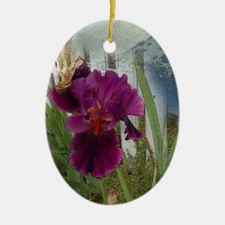 De Bloemen van de berg Keramisch Ovaal Ornament