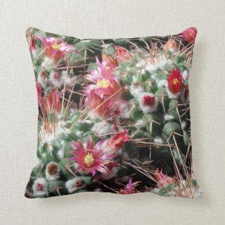 De Bloemen van de Cactus van het Speldenkussen van Sierkussen