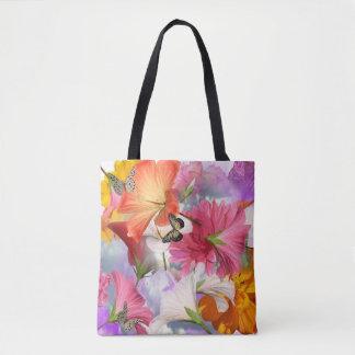 De Bloemen van de hibiscus helemaal over - het Draagtas