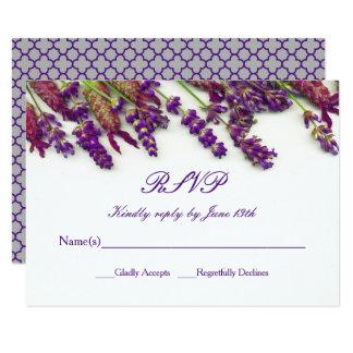 De Bloemen van de lavendel - RSVP 8,9x12,7 Uitnodiging Kaart