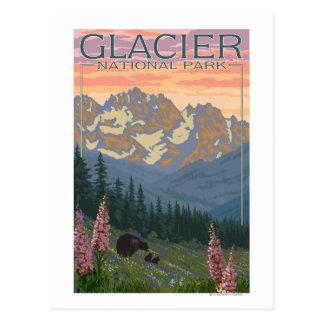 De Bloemen van de lente - het Nationale Park van Briefkaart