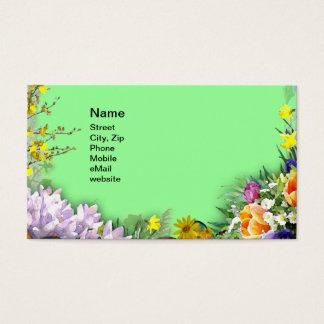 De Bloemen van de lente Visitekaartjes