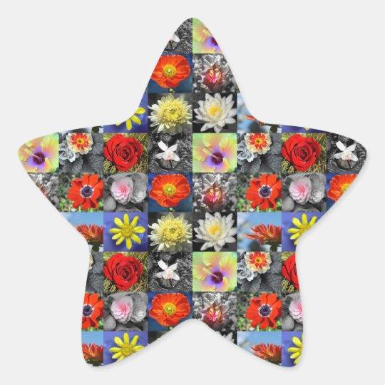 De Bloemen van de liefde Ster Sticker