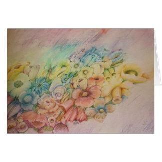 De bloemen van de pastelkleur briefkaarten 0