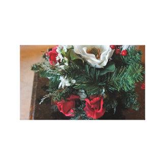 De bloemen van de winter stretched canvas afdrukken