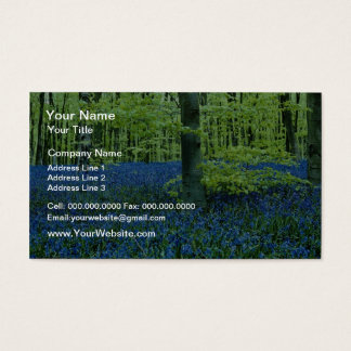 De bloemen van het Bos van het Klokje van Aqua Visitekaartjes