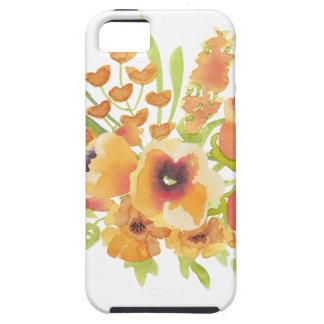 De bloemen van waterverven tough iPhone 5 hoesje