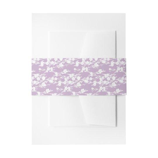 De bloemen Versiering van de Lavendel van de Uitnodigingen Wikkel