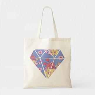 De bloemen vorm van de patronen moderne diamant draagtas