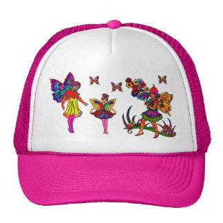 De BloemenVlinders van de Meisjes van de vlinder Trucker Petten
