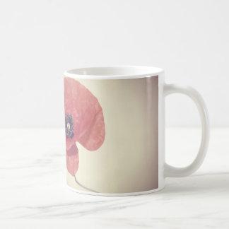 De bloemmok van de papaver koffiemok