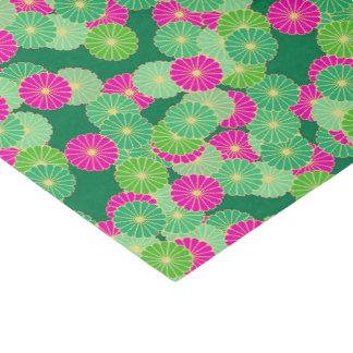 De bloempatroon van het art deco - fuchsiakleurig tissuepapier