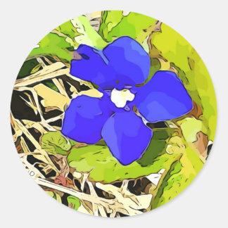 De bloemstickers van de Gentiaan van Ronde Sticker