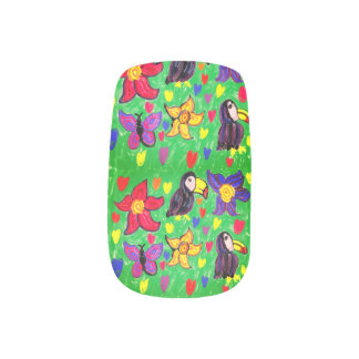 De bloemvlinder van de toekan minx nail folie