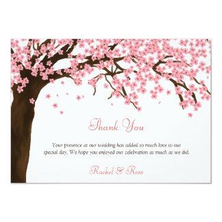 De Bloesem van de kers/de Waterverf Sakura dankt u 11,4x15,9 Uitnodiging Kaart