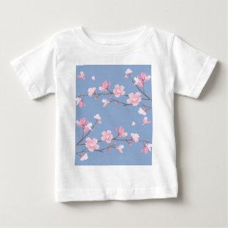 De Bloesem van de kers - het Blauw van de Baby T Shirts