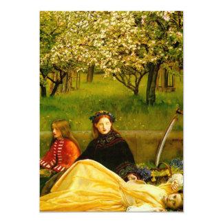 De Bloesems van Apple springen Fijn Art. op 12,7x17,8 Uitnodiging Kaart
