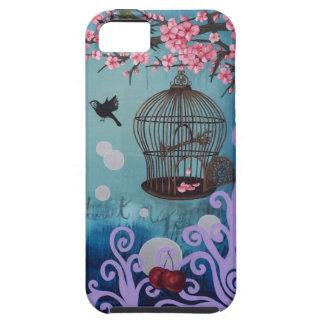 De bloesems van Birdcage en van de kers Tough iPhone 5 Hoesje