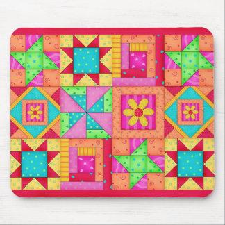 De Blokken Mousepad van het Dekbed van het lapwerk Muismat