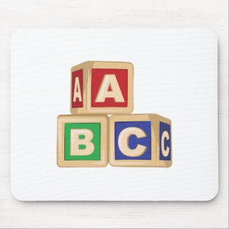 De Blokken van ABC Muismat