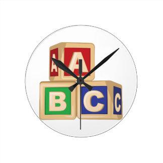 De Blokken van ABC Ronde Klok Medium
