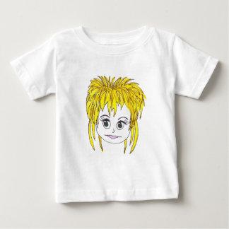 De blonde van de tuimelschakelaar baby t shirts