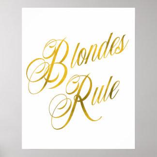 De blonden beslissen MetaalBlonde van de Folie van Poster