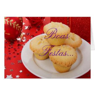 De Boa's Festas e um feliz Ano Novo van Kerstmis Wenskaart