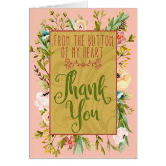 De bodem van Mijn Hart Bloemen dankt u kaardt Briefkaarten 0