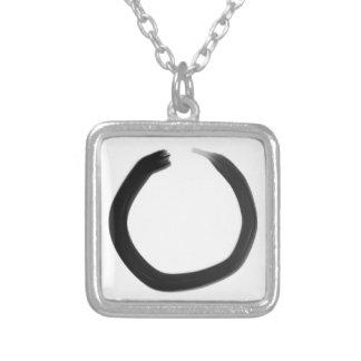 De Boeddhistische Cirkel Enso van Zen Zilver Vergulden Ketting