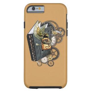 De boeken van het de draakverhaal van Steampunk Tough iPhone 6 Hoesje