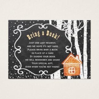 De boeken voor de babywinter brengen een kaart van visitekaartjes