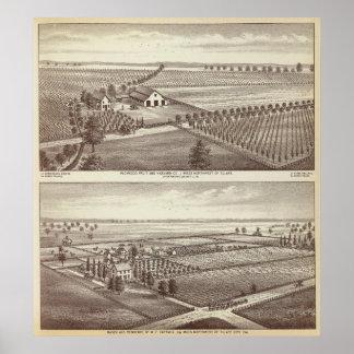De boerderijen van Tulare Poster