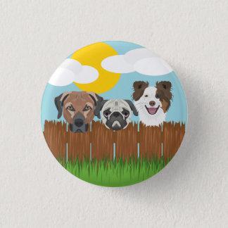 De bofkonten van de illustratie op een houten ronde button 3,2 cm