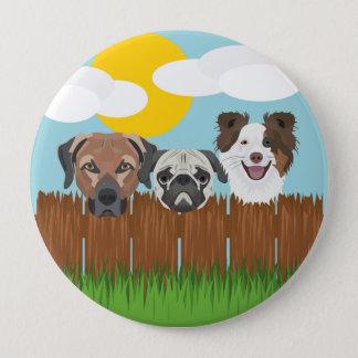 De bofkonten van de illustratie op een houten ronde button 4,0 cm