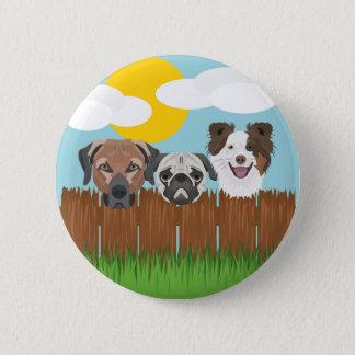 De bofkonten van de illustratie op een houten ronde button 5,7 cm