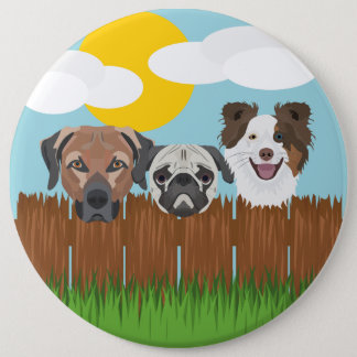 De bofkonten van de illustratie op een houten ronde button 6,0 cm