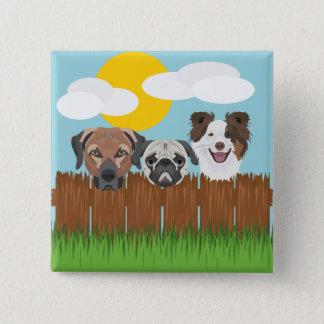 De bofkonten van de illustratie op een houten vierkante button 5,1 cm